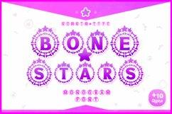 Bone Stars Halloween Monogram Display font / Procreate font Product Image 1