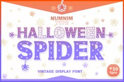 Halloween Spider Display font |Halloween font decorate craft Product Image 1