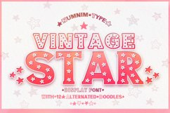 Vintage Star - Classic Display font with doodle glyphs Product Image 1