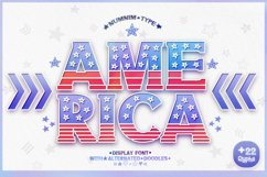 America - USA 4th of july Nation Day Classic Display font Product Image 1