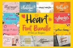 Heart Font Bundle Product Image 1