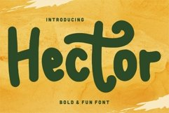 Web Font Hector - Bold & Fun Font Product Image 1
