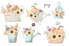 Hello Autumn Set Clipart Elements