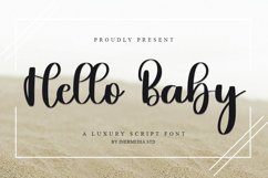 Hello Baby - A Luxury Script Font Product Image 1