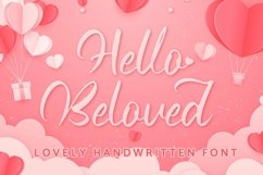 Web Font Hello Beloved - Lovely Handwritten Font Product Image 1
