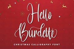 Web Font Hello Burdette - Christmas Calligraphy Font Product Image 1