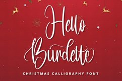 Hello Burdette - Christmas Calligraphy Font Product Image 1