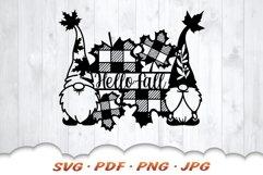 Hello Fall Gnome SVG Files For Cricut Product Image 3