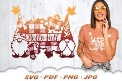 Hello Fall Gnome SVG Files For Cricut Product Image 1