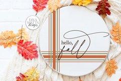 Hello Fall Plaid SVG   Farmhouse Autumn Design Product Image 1