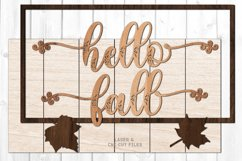 Hello Fall Shiplap Welcome Sign SVG Glowforge Laser Files Product Image 2