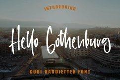 Web Font Hello Gothenburg - Cool Handletter Font Product Image 1