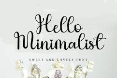 Hello Minimalist - Sweet Handwritten Font Product Image 1