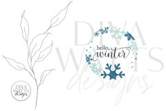 Hello Winter SVG   Snowflakes Christmas Round Design Product Image 2