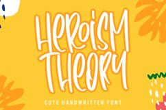 Heroism Theory - Cute Handwritten Product Image 1