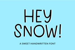 Hey Snow - a sweet display font Product Image 1