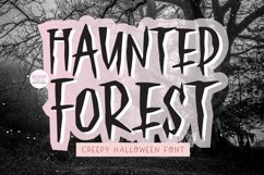HAUNTED FOREST Creepy Halloween Font Product Image 1