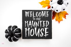 HAUNTED FOREST Creepy Halloween Font Product Image 3