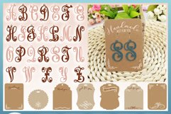 Monogram Initials Hearts Earring Bundle Faux Leather Jewelry Product Image 6