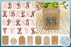 Monogram Initials Hearts Earring Bundle Faux Leather Jewelry Product Image 1