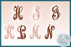 Monogram Initials Hearts Earring Bundle Faux Leather Jewelry Product Image 4
