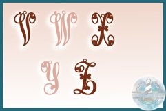 Monogram Initials Hearts Earring Bundle Faux Leather Jewelry Product Image 5