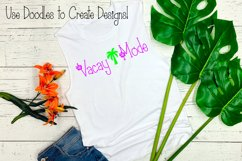Hibiscus Font   A Summer Beach Font   Flower Font   Tropical Product Image 3