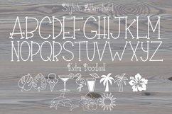 Hibiscus Font   A Summer Beach Font   Flower Font   Tropical Product Image 5