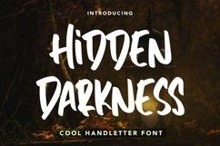 Web Font HiddenDarkness - Cool Handletter Font Product Image 1