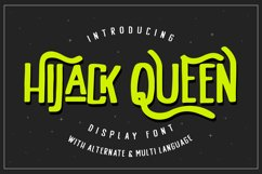 HiJack Queen - Display Typeface Product Image 1