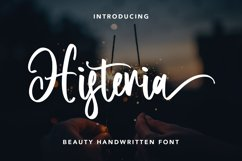 Histeria - Beauty Handwritten Font Product Image 1