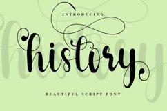 History - Beautiful Script Font Product Image 1