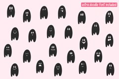 Haunted Pumpkin - A Fun Handwritten Font with Ghost Doodles Product Image 6