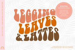 Fall SVG Design Leggings Leaves and Lattes SVG File HM Product Image 2