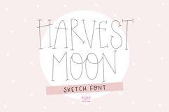 """""""HARVEST MOON"""" Sketch Font - Single Line/Hairline Font Product Image 1"""