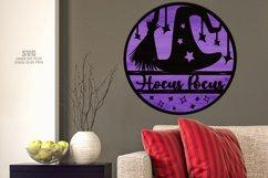 Hocus Pocus Round Sign SVG Glowforge Halloween Laser Files Product Image 3