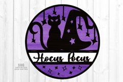 Hocus Pocus Round Sign SVG Glowforge Halloween Laser Files Product Image 2
