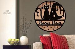 Hocus Pocus Round Sign SVG Glowforge Halloween Laser Files Product Image 4