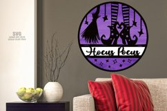 Hocus Pocus Witch Sign SVG Glowforge Halloween Laser Files Product Image 4