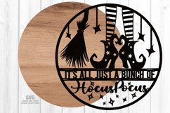 Hocus Pocus Witch Sign SVG Glowforge Halloween Laser Files Product Image 2