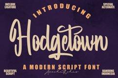 Hodgetown - Modern Script Font Product Image 1
