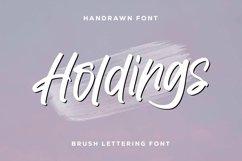 Web Font Holdings - Brush Lettering Font Product Image 1