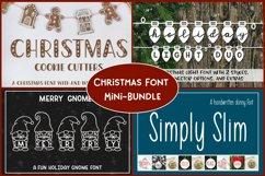 Christmas Font Bundle - 4 Font Mini-Bundle Product Image 1