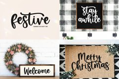 Christmas Font Bundle - 10 Fun Holiday Fonts for Crafters Product Image 5