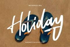Holiday - Handwritten Script Font Product Image 1