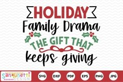 Holiday Family Drama Funny Christmas SVG Product Image 2