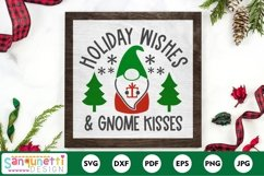 Christmas gnome Holiday Wishes & gnome kisses SVG Product Image 1