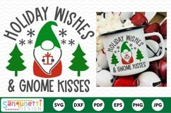 Christmas gnome Holiday Wishes & gnome kisses SVG Product Image 2