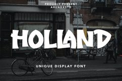 Holland - Unique Display Font Product Image 1