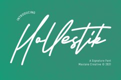 Hollestik Signature Font Product Image 1